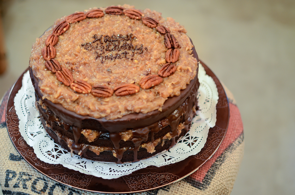 Vegan German Chocolate Cake - MandiCrocker